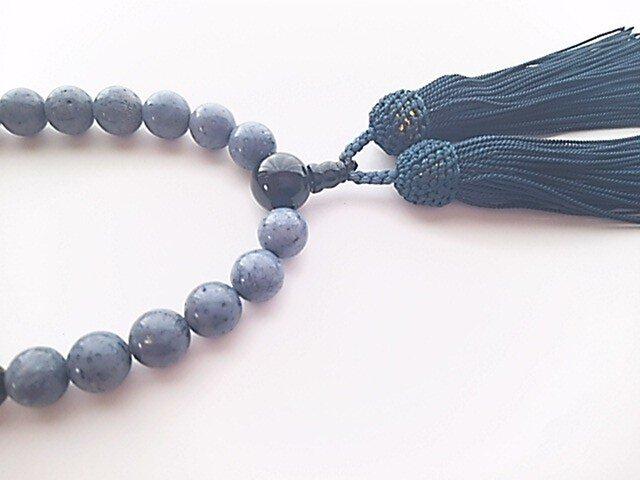 【オーダーメイド商品】ブルーコーラルとオニキスの念珠の画像1枚目