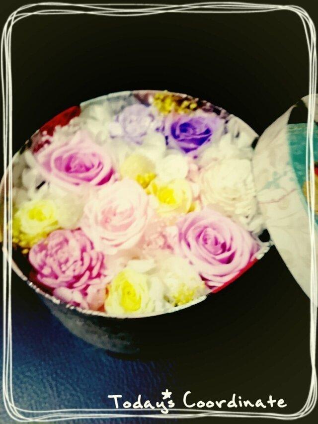 カラフルお花のBOXの画像1枚目