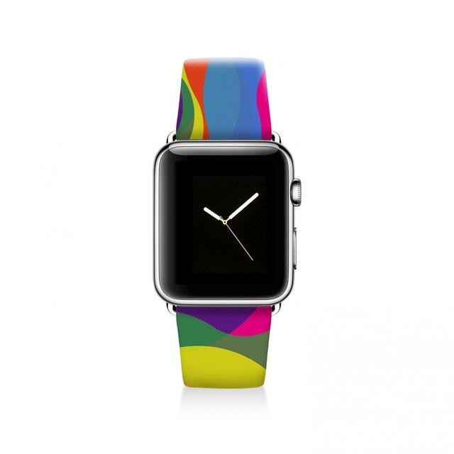 本革☆Apple Watch アップルウォッチ バンド ファッション ベルト 交換 ベルト 019の画像1枚目