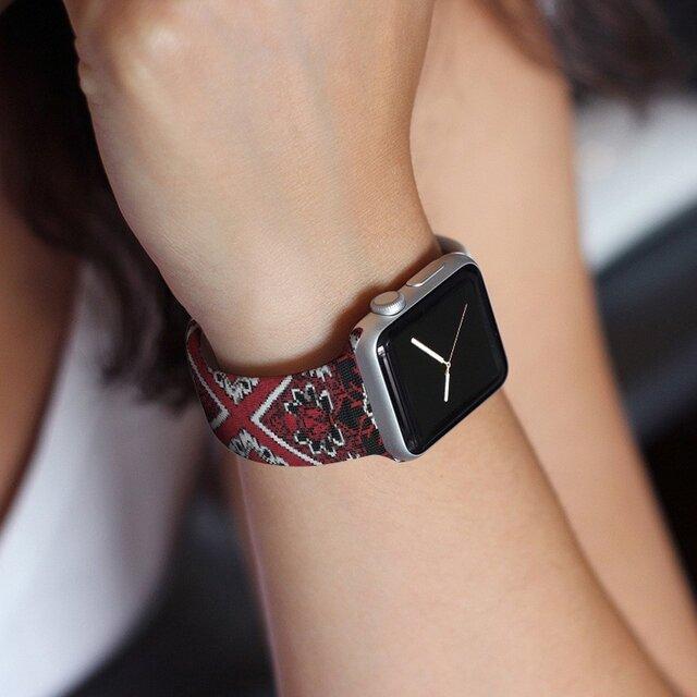 本革☆Apple Watch アップルウォッチ バンド ファッション ベルト 交換 ベルト 027の画像1枚目