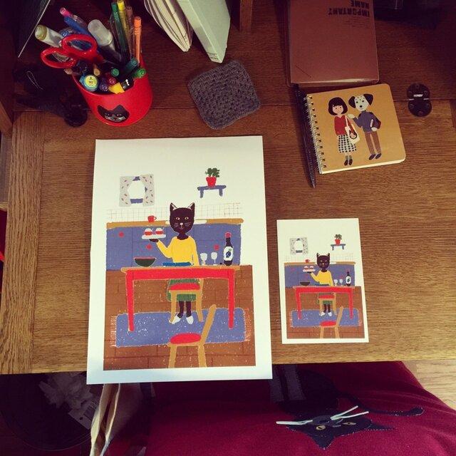 ポスター&ポストカードのセット(北欧雑貨ショップ店長のパーティー)の画像1枚目