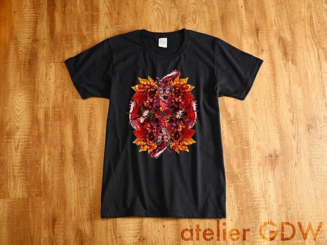 からくれなゐ - 黒[Tシャツ]atelierGDWの画像1枚目