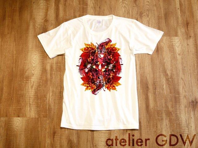 からくれなゐ - 白[Tシャツ]atelierGDWの画像1枚目