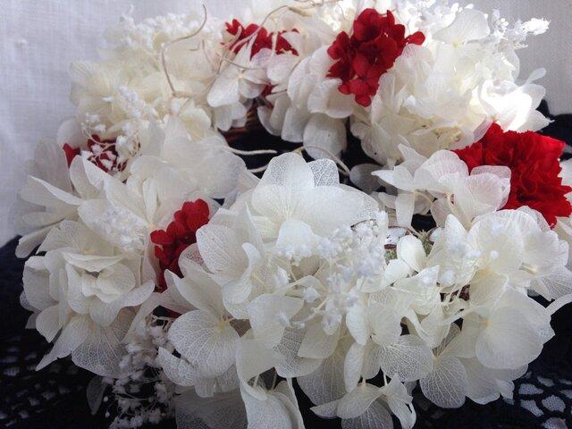 カーネーションと感謝の花言葉をもつかすみ草の画像1枚目
