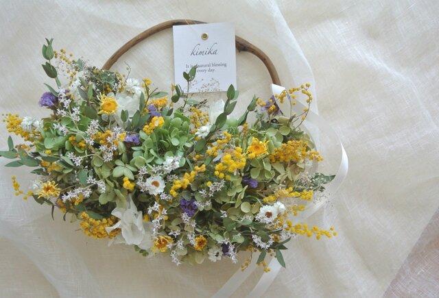 hanging basket wreath. acの画像1枚目