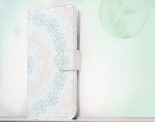 全機種対応 手帳型 スマホケース iPhoneXs iPhone9 iPhoneXs MaxiPhoneX 模様 幾何学模様の画像1枚目