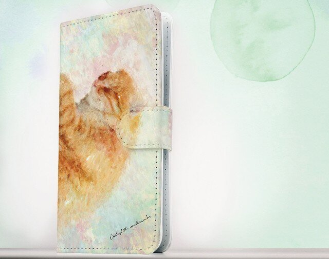 全機種対応 手帳型 スマホケース iPhoneXs iPhone9 iPhoneXs MaxiPhoneX 猫 眠る猫の画像1枚目