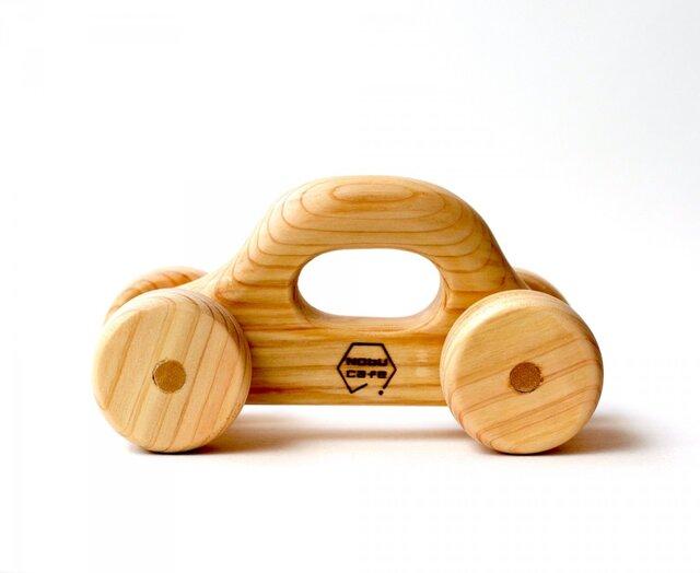 【木製】くるまのおもちゃ:ひのき(名入れ可)の画像1枚目