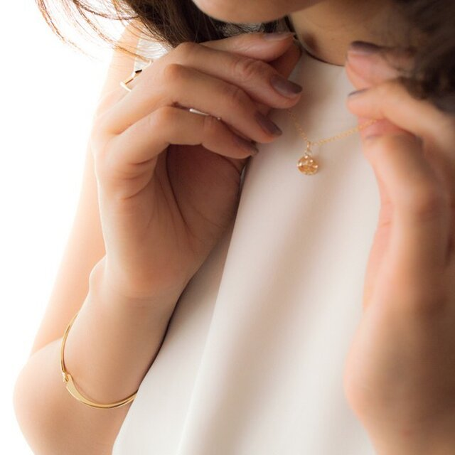 14kgf metal plate Short Necklaceの画像1枚目