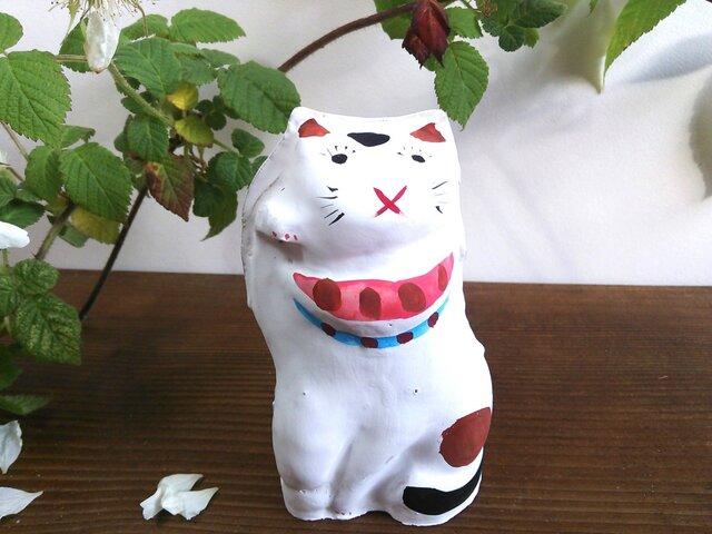 まねき猫 土人形の画像1枚目