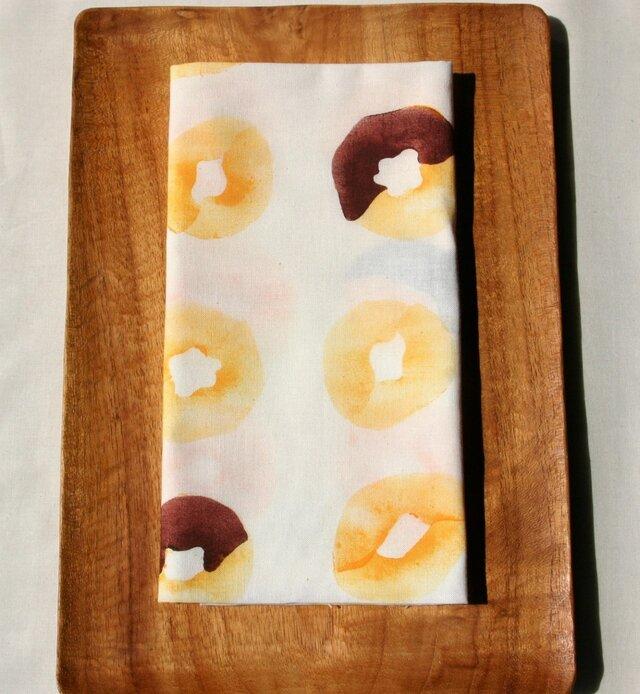 型染め ドーナツ手ぬぐい 「チョコ」の画像1枚目