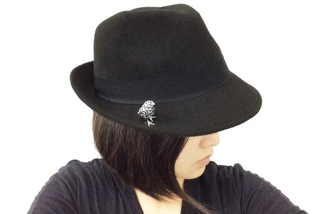 ひよこ立体SV925ハットピン・ブローチ【Pio by Parakee】chick of chicken hat pinの画像1枚目