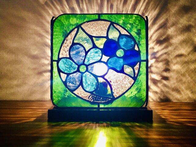 【送料無料】ランプ・fleur nostalgique(グリーン)の画像1枚目