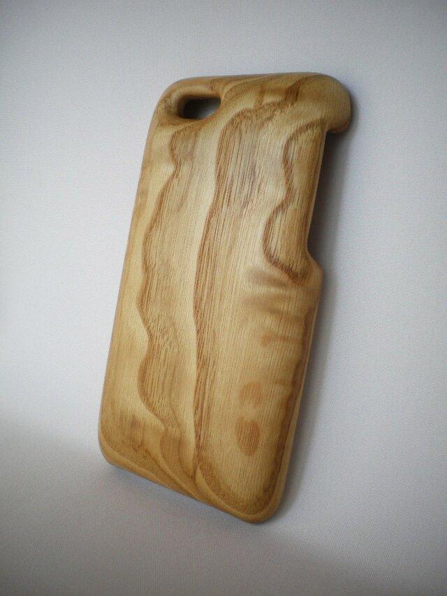 【受注制作】木製iPhoneケース(iPhone 6用)(栗)の画像1枚目