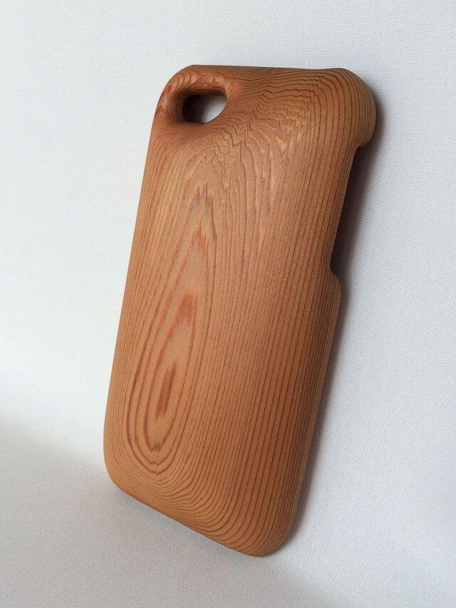【受注制作】木製iPhoneケース(iPhone 5用)(吉野杉)の画像1枚目