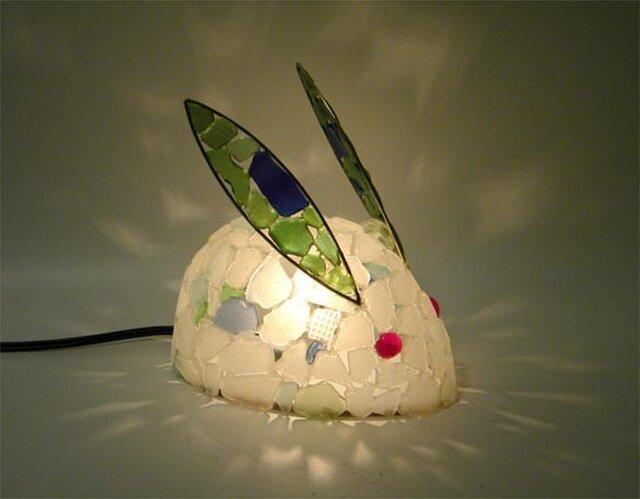 シーグラスランプ 雪うさぎのランプ-13の画像1枚目