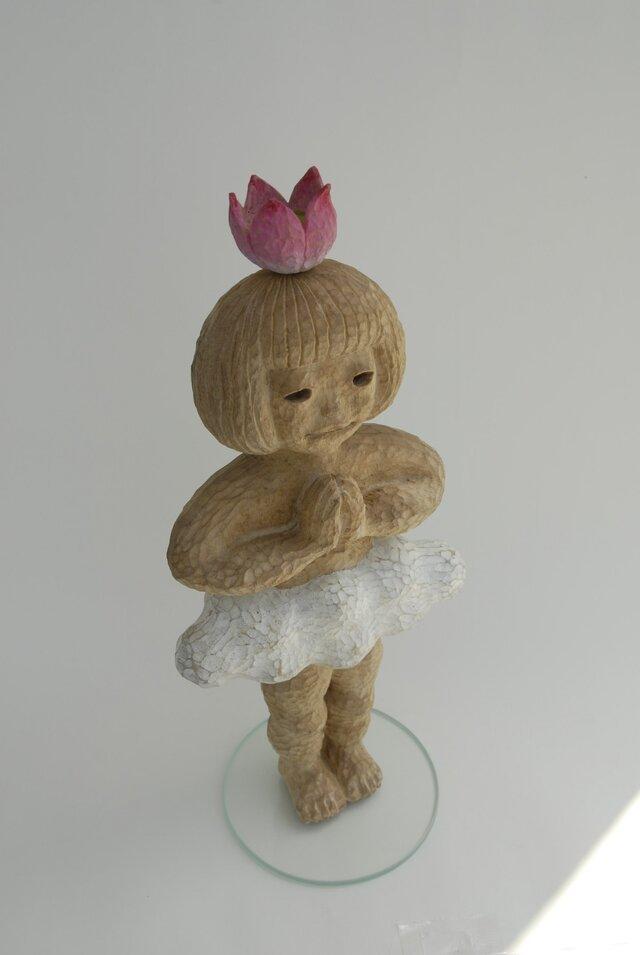 祈る子(花と雲) The child who prays (A flower and cloud)の画像1枚目