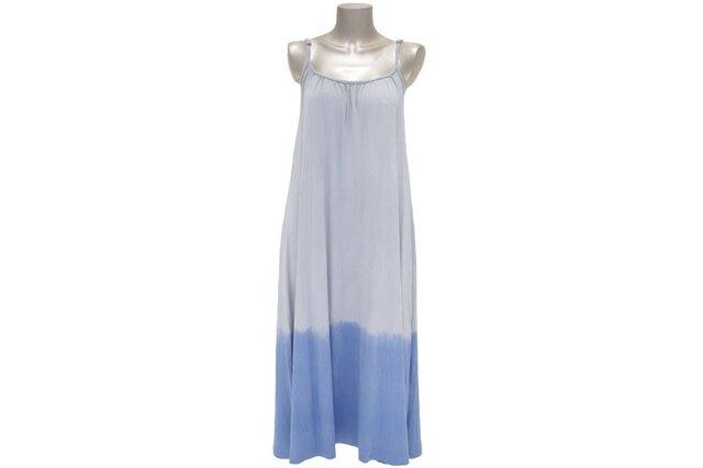 夏色グラデーションキャミソールロングドレス<ブルーグレー>の画像1枚目