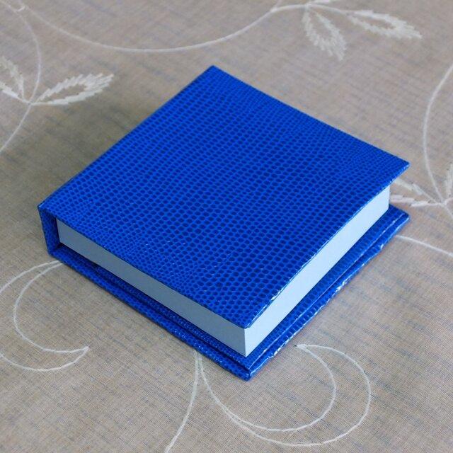 ポストイッツホルダー とかげ 青色の画像1枚目