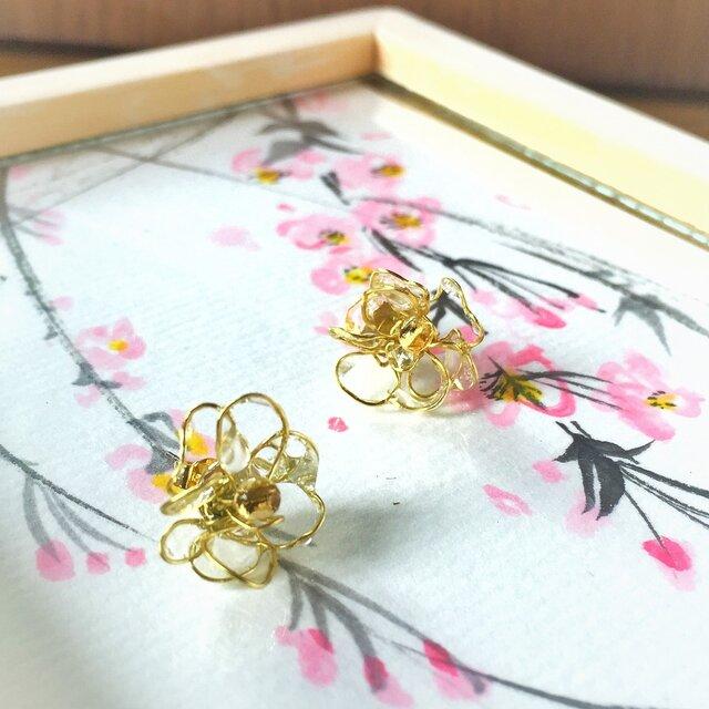 【noilmok】weeping cherry~枝垂れ桜のピアス~の画像1枚目