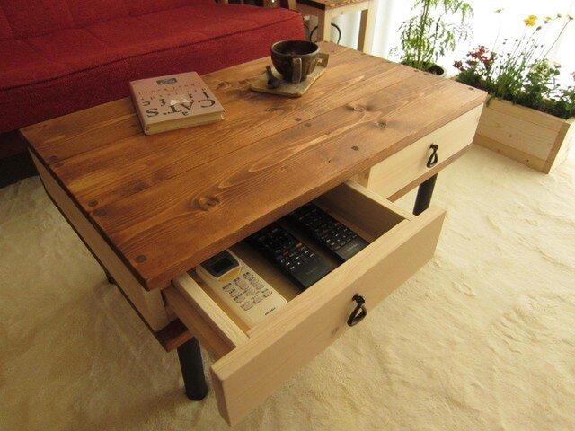ローテーブル(引出し付)の画像1枚目