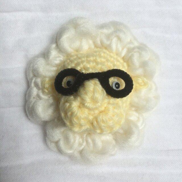 メガネをかけた動物チャーム(ライオン)の画像1枚目