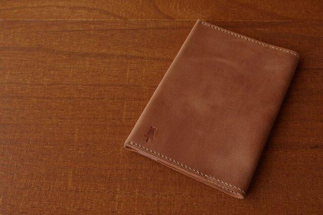 【受注生産】マットな質感のブックカバー(文庫サイズ)ブラウンの画像1枚目