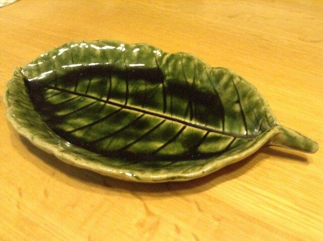 葉っぱのお皿の画像1枚目