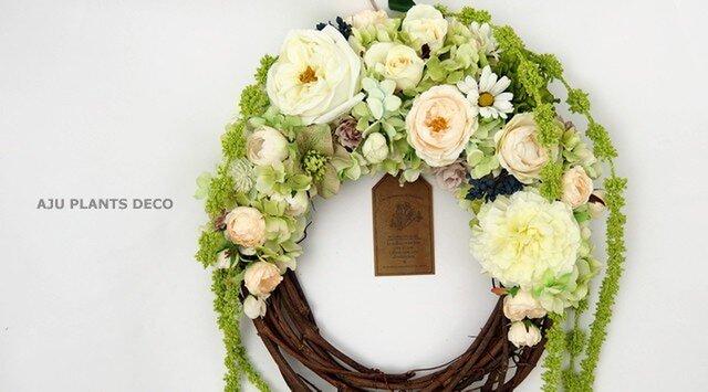 Wreath (7) ~Amaranthus~  57x32の画像1枚目