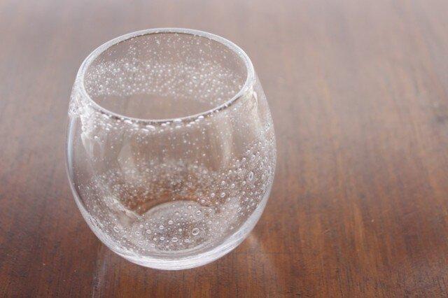 小さな泡のグラス 渦 小さめの画像1枚目
