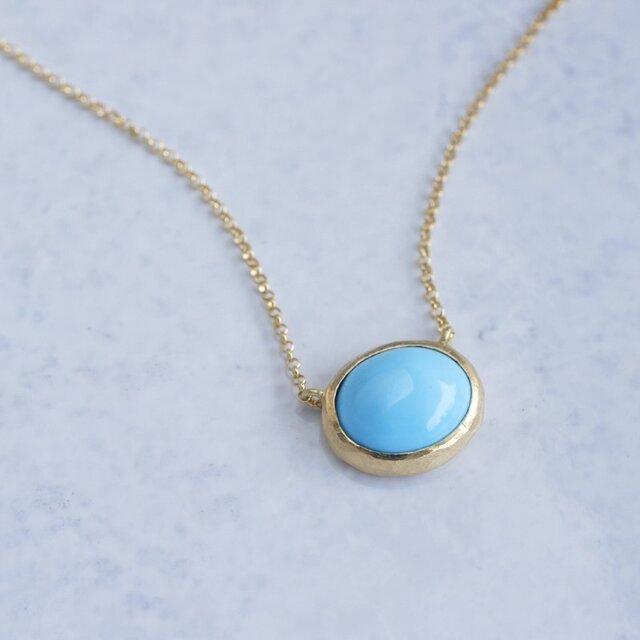 K18 Turquoise pendant [OP070K18]の画像1枚目