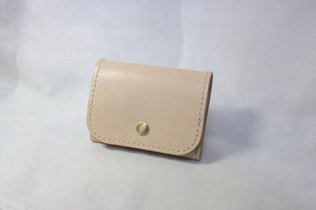 ヌメ革 ボックス型小銭入れ(ナチュラル色)の画像1枚目