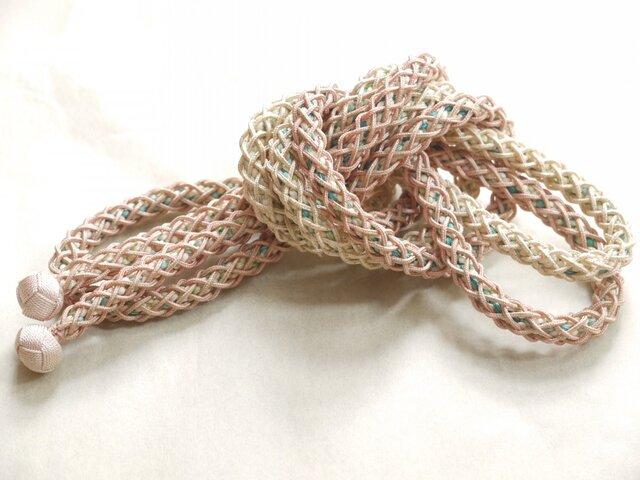 手組み正絹組紐【八つ組+網代(1+多色)】059M015001の画像1枚目