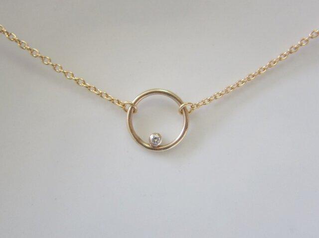 ダイヤモンドサークルのネックレスの画像1枚目