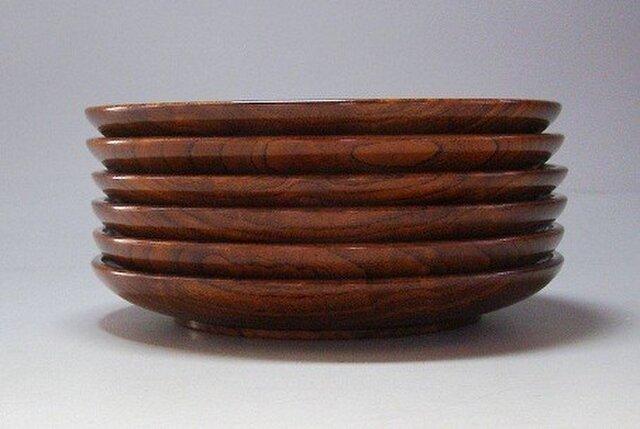 欅玉杢造り拭き漆銘々皿の画像1枚目