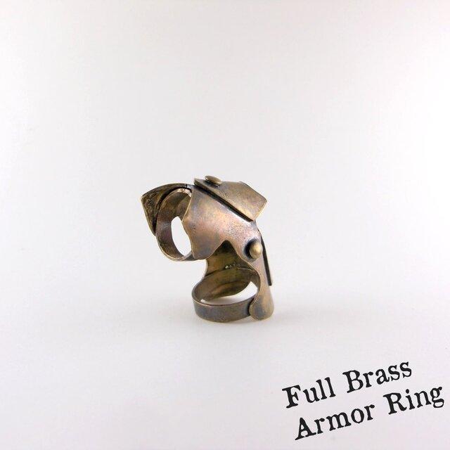 Full Brass Armor Ring//真鍮製の画像1枚目