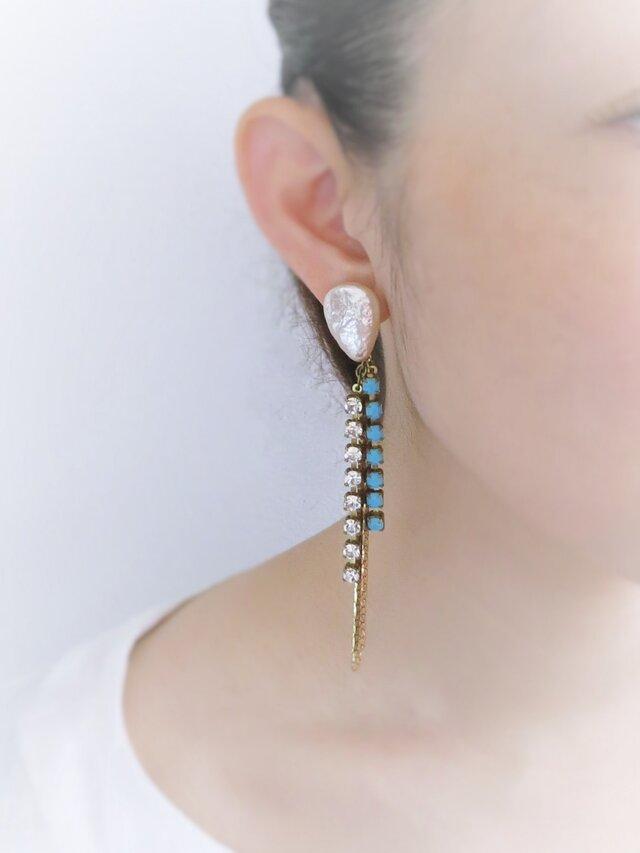 ヴィンテージハスケルパールイヤリング vintage earrings MHF <ER-MHF1>の画像1枚目