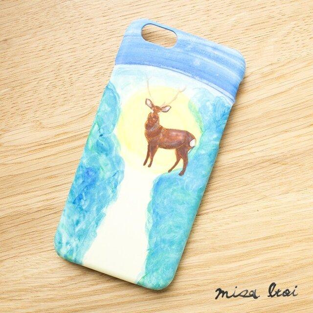 SALE!!!【iPhone/Android対応】「星降る夜に、鹿と出逢った」スマートフォンケースの画像1枚目