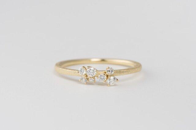 【オーダー】Legrand メレーダイヤモンドリング / K18YGの画像1枚目