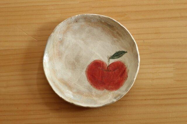 粉引きりんごのケーキ皿。の画像1枚目