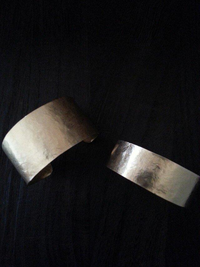 再出品・・・真鍮のバングル(slim)の画像1枚目