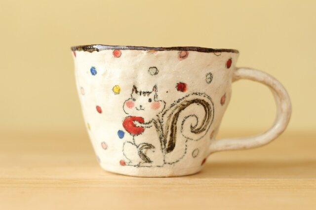 粉引き手びねりりすときのこののカップ。の画像1枚目
