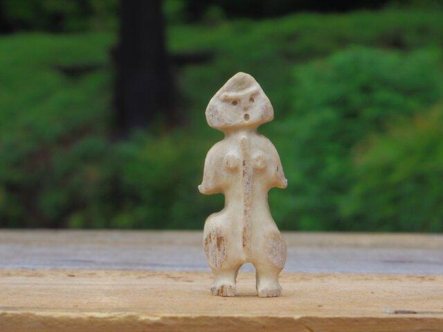 【角偶】H/鹿角から削り出した人形(ひとがた)/お守りの画像1枚目