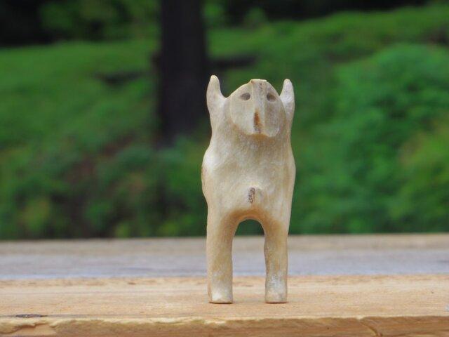 【角偶】J/鹿角から削り出した人形(ひとがた)/お守りの画像1枚目