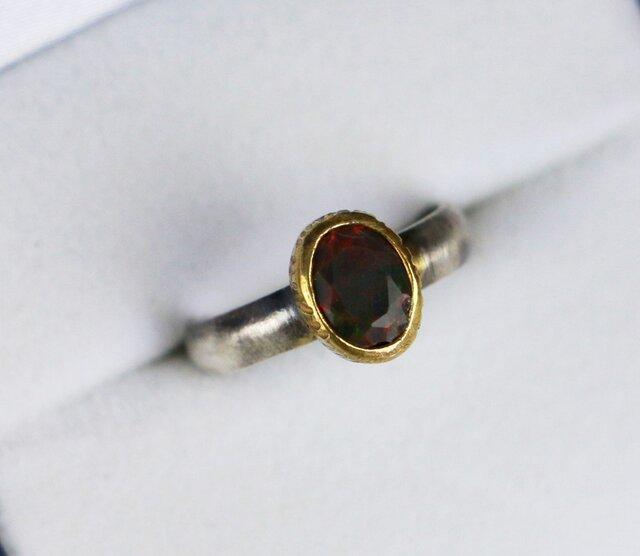 古代スタイル オパール 指輪 9号 の画像1枚目