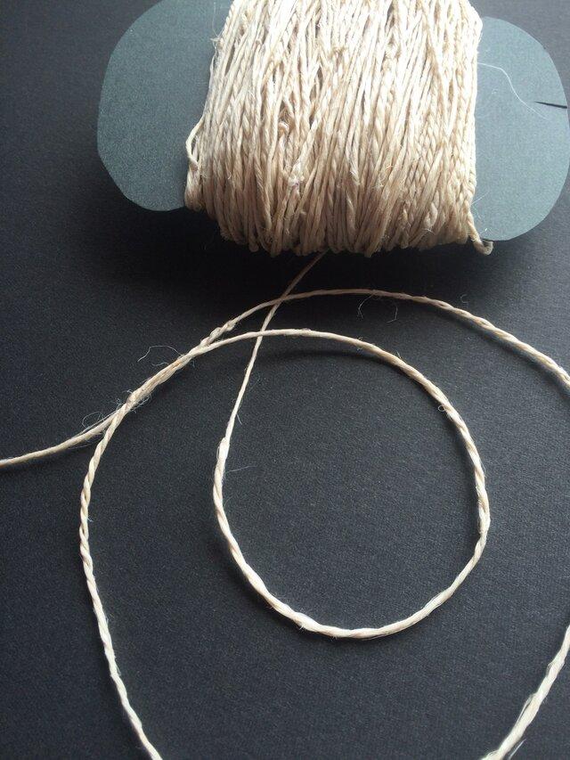 手績み国産麻糸(太め)長さ1m〜の画像1枚目