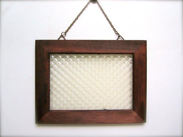 *再販* レトロ飾りガラス風 壁掛け 小の画像1枚目