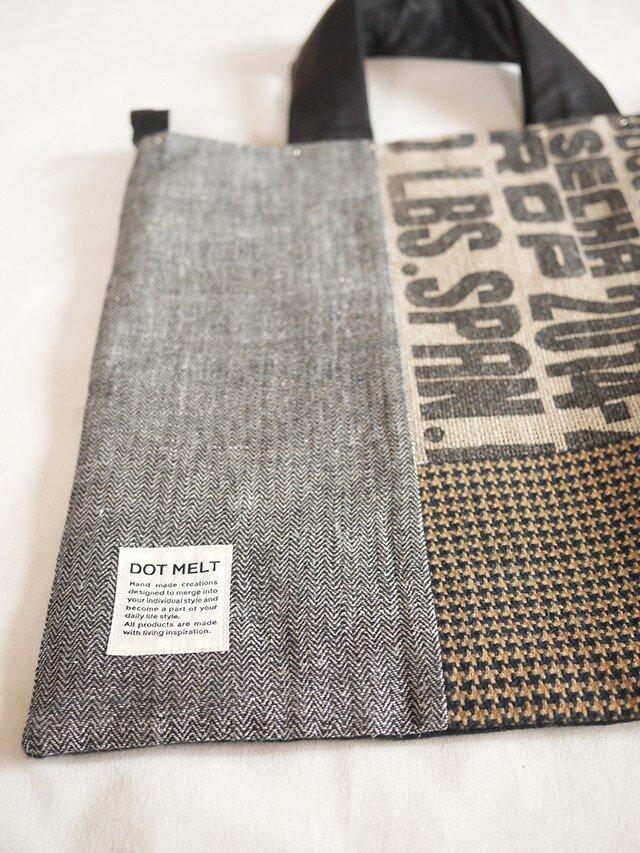 Coffee patchwork bag02-c (L)の画像1枚目