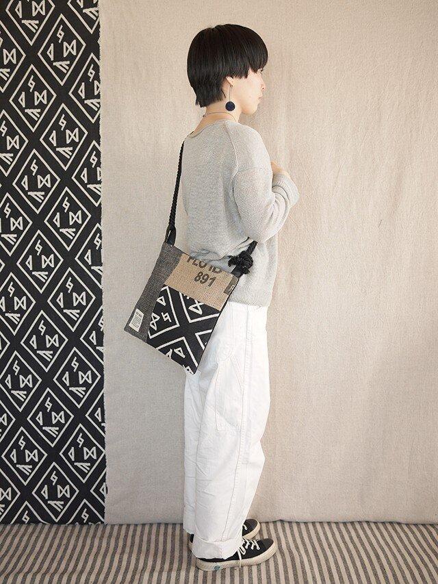 Coffee patchwork bag02-e (S)の画像1枚目