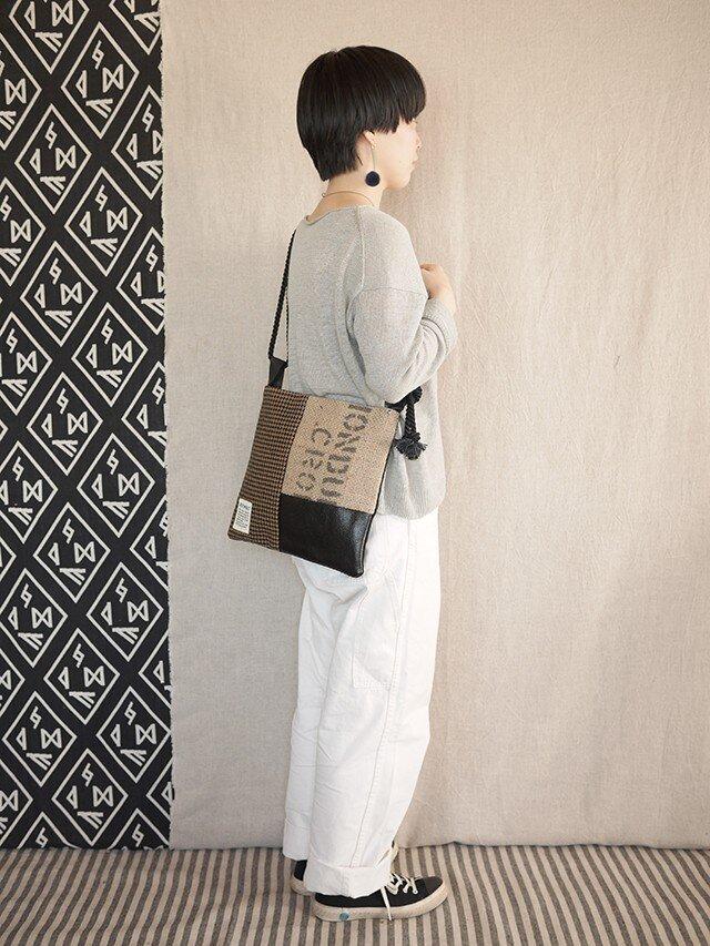 Coffee patchwork bag02-g (S)の画像1枚目